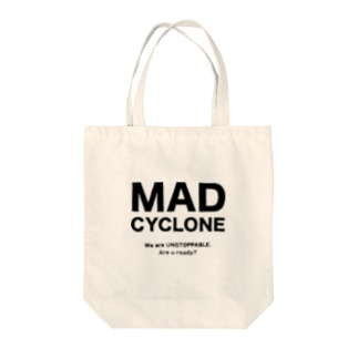 MAD CYCLONE Tote bags
