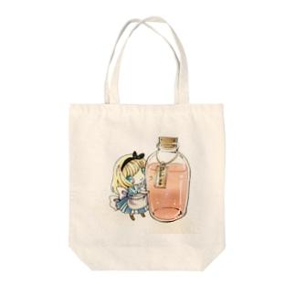 アリスちゃん Tote bags