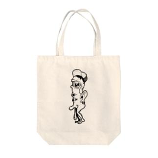 もんすたー01 Tote bags