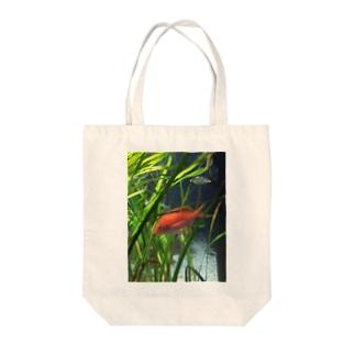 赤い魚 トートバッグ
