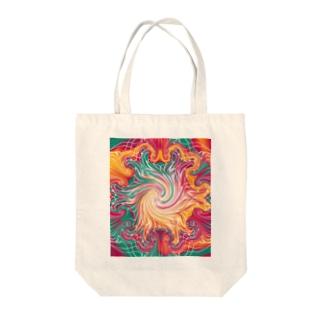 カラフルマーブル Tote Bag