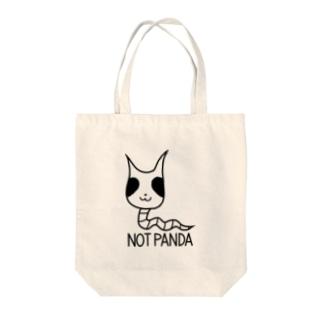 パンダじゃないです Tote bags