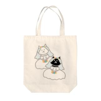 シロクロニャンコニャンコ Tote bags