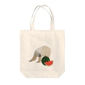 シロクマとスイカ Tote Bag
