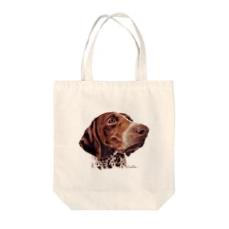 美しい犬 ジャーマンポインター Tote bags