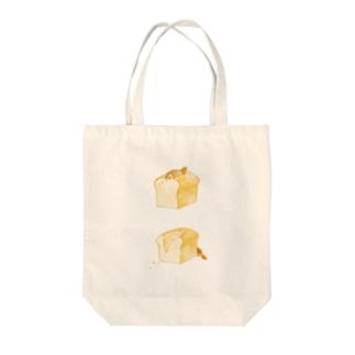 ビーバーとパン Tote bags