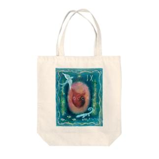 ムラナギ/ハートオンベルベット Tote bags
