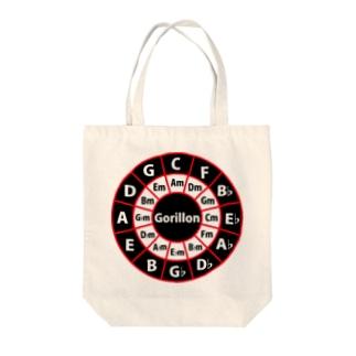 ゴリ論ロゴCiecle of Fifths Tote bags