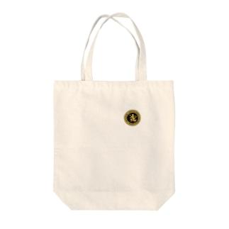 DEVGRU ライオン丸型2(ワンポイント) Tote bags