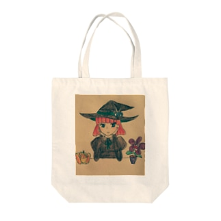 魔女っ子商会店番中 Tote bags