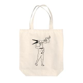 散髪おじさん Tote bags