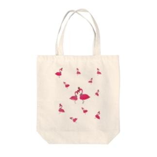 flamingo PINK LOVE Tote bags
