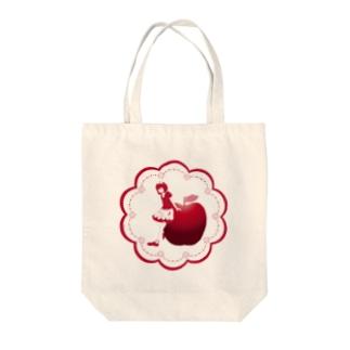 りんごりんご。 Tote bags