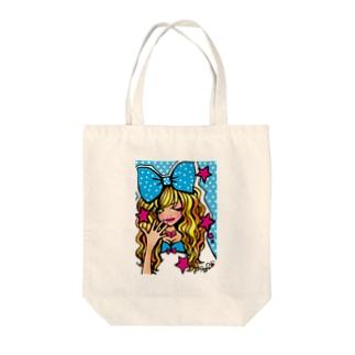 りぼんこちゃん Tote bags