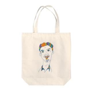 オッサン・スケッチ Tote bags