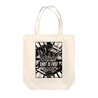 SHOT IS FREE Tote bags