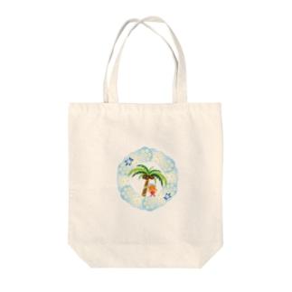 さわやかビーチの花飾りのクレコちゃん Tote bags