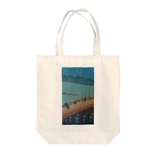 浮世絵 広重の名所江戸百景 Tote bags