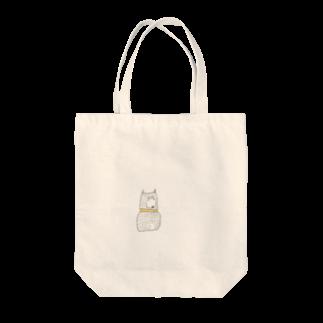 Hachimaruの靴下を履いてる犬(からし色の首輪) Tote bags