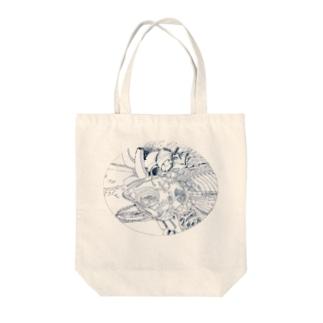 fish bone Tote bags
