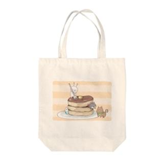 ホットケーキ Tote bags