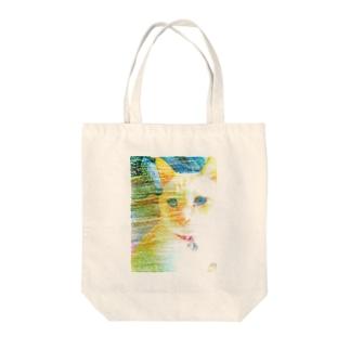 困り猫まつこ「パステルシリーズ1」 Tote bags
