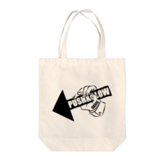 PUSH & BLOW Tote bags