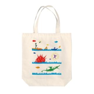ヤノベケンジ《ラッキードラゴンのおはなし》(デザインNo.1) Tote bags
