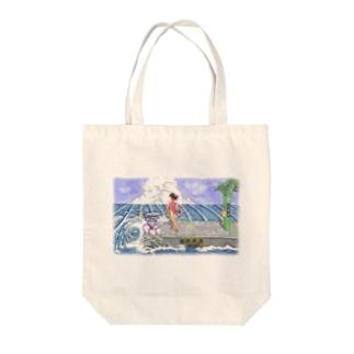 海の駅 Tote bags