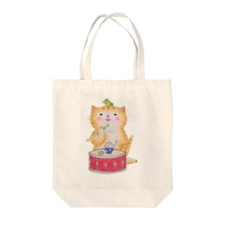 スネア猫 Tote bags