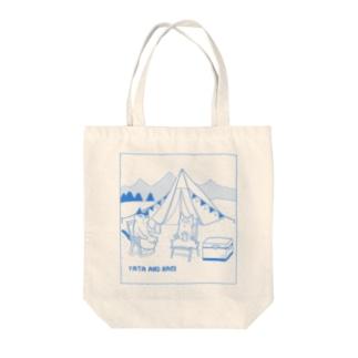 ヤタ&ナギ(キャンプ) Tote bags