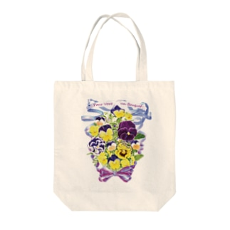花束を君に ボタニカルアート 花柄 TOTO トートバッグ Tote bags