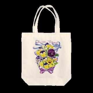 botanical_art_salonの花束を君に ボタニカルアート 花柄 TOTO トートバッグ Tote bags