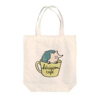 ハリネズミカフェ Tote bags