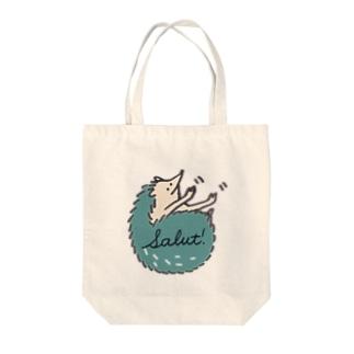 手ニョキ Tote bags