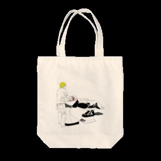 及川堂制作のシャンプーin美容室 Tote bags