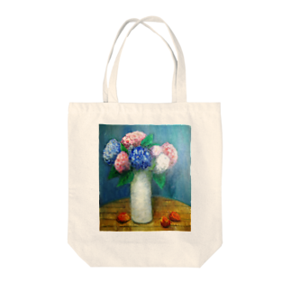 CHAIR LABOのアジサイ Tote bags