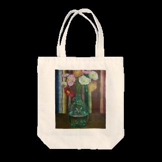CHAIR LABOのポピー Tote bags
