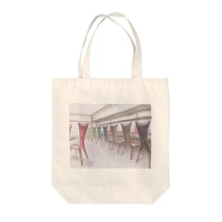 ネコチェア Tote bags