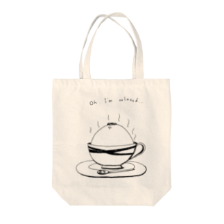 """A-nya.PoPo's Shopの""""Oh I'm relaxed..."""" Tote bags"""