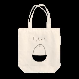 "A-nya.PoPo's Shopの"" Like! ""_ホワイト版 Tote bags"