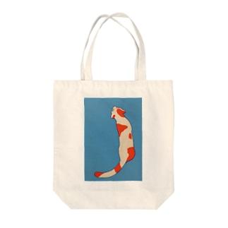ニシキネコ Tote bags