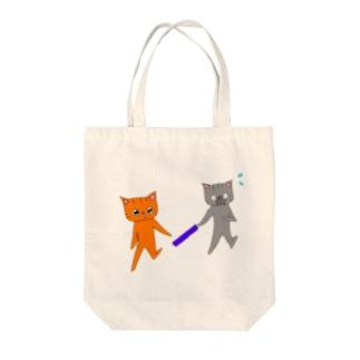 バトンタッチ!! Tote bags