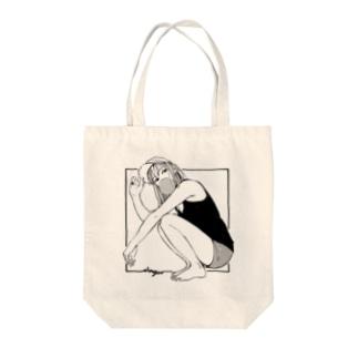 ガム女 Tote bags