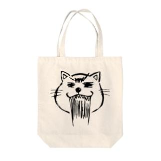 まるまるお顔のネコニャース Tote bags