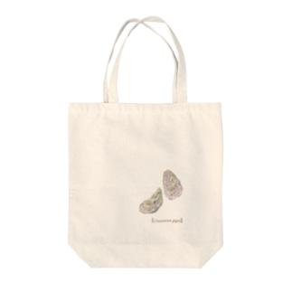 カキ Tote bags