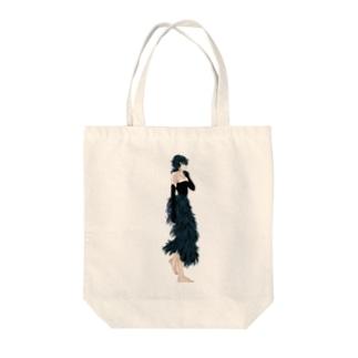黒鳥 Tote bags