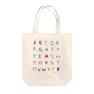 Alphabet Tシャツ(文字大ver.) トートバッグ