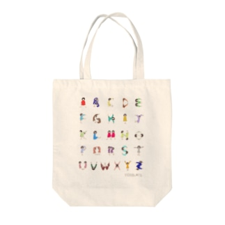 Alphabet Tシャツ(文字大ver.) Tote bags