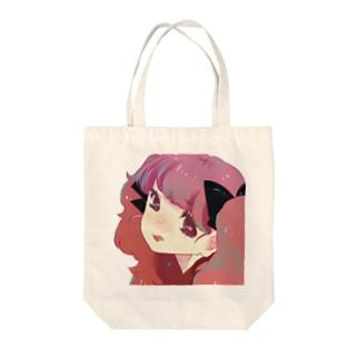 ピンクガール Tote bags
